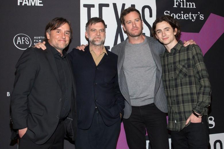 Richard Linklater, Paul Thomas Anderson, Armie Hammer and Timothée ChalametTexas Film Awards Gala, SXSW Festival, Austin, USA - 08 Mar 2018