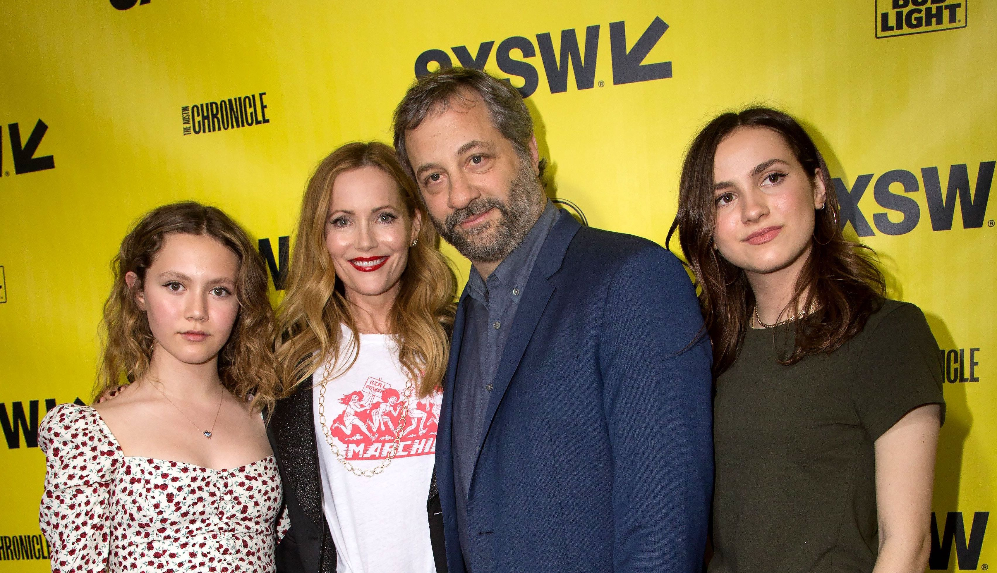 Iris Apatow, Leslie Mann, Judd Apatow and Maude Apatow'Blockers' film premiere, SXSW Festival, Austin, USA - 10 Mar 2018