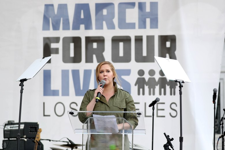 Amy SchumerMarch for our Lives Los Angeles, USA - 25 Mar 2018Actress Amy Schumer speaks at the March For Our Lives in downtown in Los Angeles, California, USA, 24 March 2018. March For Our Lives was organized in response to the 14 February shooting at Marjory Stoneman Douglas High School in Parkland, Florida. The student activists demand that their lives and safety become a priority, and an end to gun violence and mass shootings in schools.