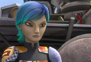 "STAR WARS REBELS - ""The Lost Commanders"" - Ahsoka sends the Rebel crew to find and recruit a war hero to their cause, but when they discover it is Captain Rex, trust issues put the mission at risk. This episode of ""Star Wars Rebels"" airs Wednesday, October 14 (9:30 PM - 10:00 PM ET/PT) on Disney XD. (Disney XD)SABINE"
