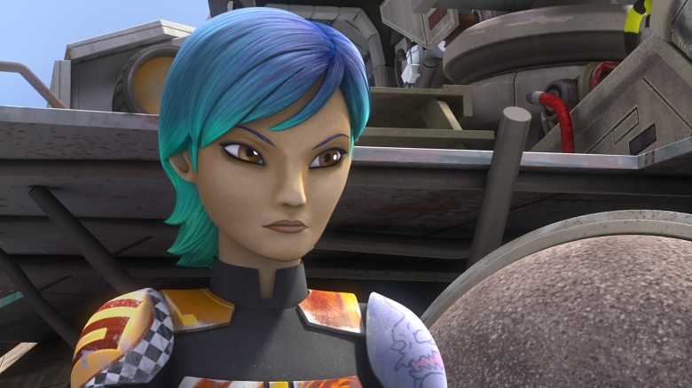 """STAR WARS REBELS - """"The Lost Commanders"""" - Ahsoka sends the Rebel crew to find and recruit a war hero to their cause, but when they discover it is Captain Rex, trust issues put the mission at risk. This episode of """"Star Wars Rebels"""" airs Wednesday, October 14 (9:30 PM - 10:00 PM ET/PT) on Disney XD. (Disney XD)SABINE"""