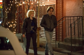 "THE AMERICANS -- ""The Great Patriotic War"" -- Season 6, Episode 5 (Airs Wednesday, April 25, 10:00 pm/ep) -- Pictured: (l-r) Julia Garner as Kimmy, Matthew Rhys as Philip Jennings. CR: Eric Liebowitz/FX"