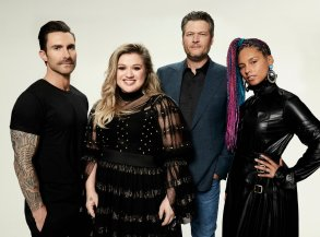THE VOICE -- Season: 14 --  Pictured: (l-r) Adam Levine, Kelly Clarkson, Blake Shelton, Alicia Keys -- (Photo by: Art Streiber/NBC)