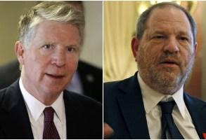 New York District Attorney Cyrus Vance Jr. and Harvey Weinstein