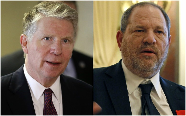 New York District Attorney Cyrus Vance Jr. and Harvey Weinstein