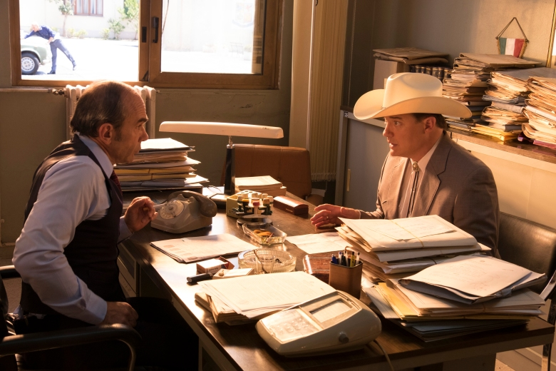 "TRUST -- ""Lone Star"" -- Episode 2 (Airs Sunday, April 1, 10:00 p.m.) Pictured: (l-r) Giancarlo Zavatteri as Inspector Giordano, Brendan Fraser as James Fletcher Chase. CR: FX"