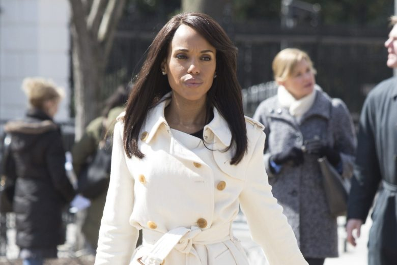 "SCANDAL - ""Over A Cliff"" - The highly anticipated series finale of the groundbreaking series, ""Scandal,"" receives a momentous send-off, beginning with an exclusive sneak peek at the final episode on ""Good Morning America,"" THURSDAY, APRIL 19 (7:00-9:00 a.m. EDT), on The ABC Television Network. (ABC/Giovanni Rufino)KERRY WASHINGTON"