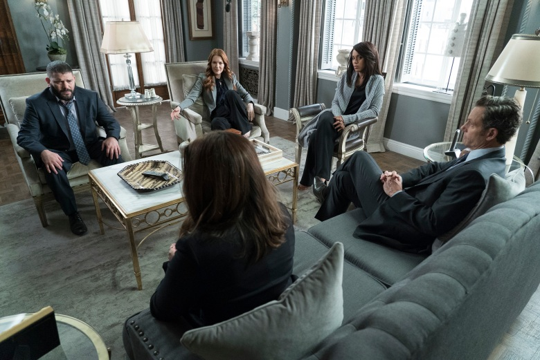 "SCANDAL - ""Over A Cliff"" - The highly anticipated series finale of the groundbreaking series, ""Scandal,"" receives a momentous send-off, beginning with an exclusive sneak peek at the final episode on ""Good Morning America,"" THURSDAY, APRIL 19 (7:00-9:00 a.m. EDT), on The ABC Television Network. (ABC/Eric McCandless)GUILLERMO DIAZ, DARBY STANCHFIELD, KERRY WASHINGTON, TONY GOLDWYN"