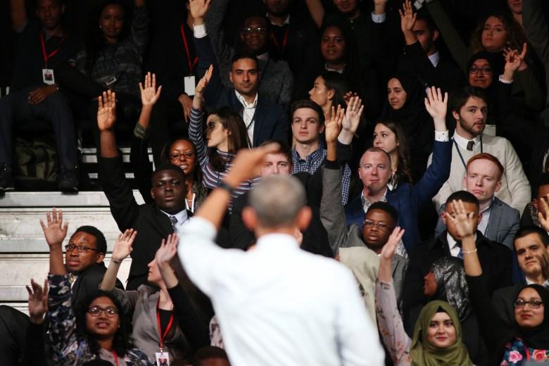 Barack Obama, Town hall Q&A session, LondonUS President Barack Obama State Visit to Britain - 23 Apr 2016