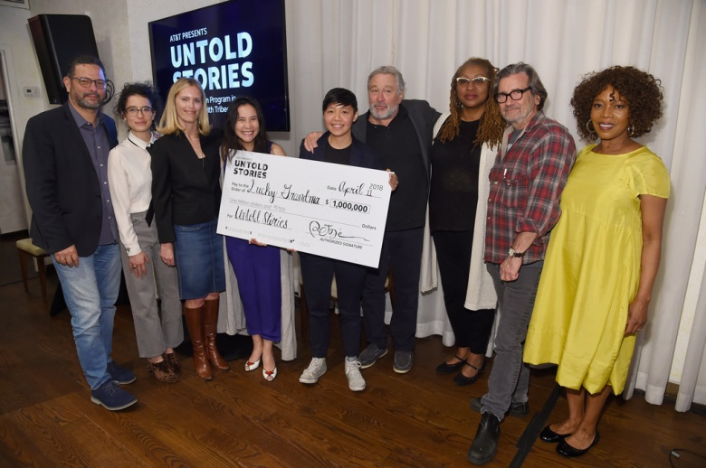 """Lucky Grandma"" filmmakers receive their $1 million check from Robert Dinero and the Untold Stories Jury"