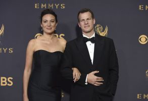 Lisa Joy, Jonathan Nolan. Lisa Joy, left, and Jonathan Nolan arrive at the 69th Primetime Emmy Awards, at the Microsoft Theater in Los Angeles2017 Primetime Emmy Awards - Arrivals, Los Angeles, USA - 17 Sep 2017