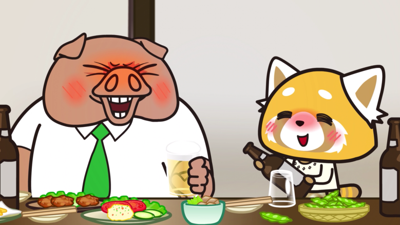 aggretsuko drinks