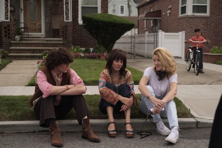 "Matt Smith, Marianne Rendon, Ondi Timoner on set of ""Mapplethorpe"""