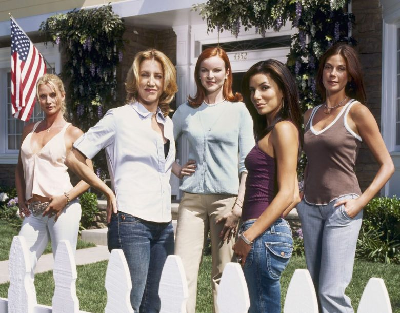 No Merchandising. Editorial Use Only. No Book Cover Usage Mandatory Credit: Photo by Snap Stills/REX/Shutterstock (2103329h) Left To Right: Nicollette Sheridan - Edie Britt, Felicity Huffman - Lynette Scavo, Marcia Cross - Bree Van De Kamp, Eva Longoria - Gabrielle Solis, Teri Hatcher - Susan Mayer Desperate Housewives - 2004