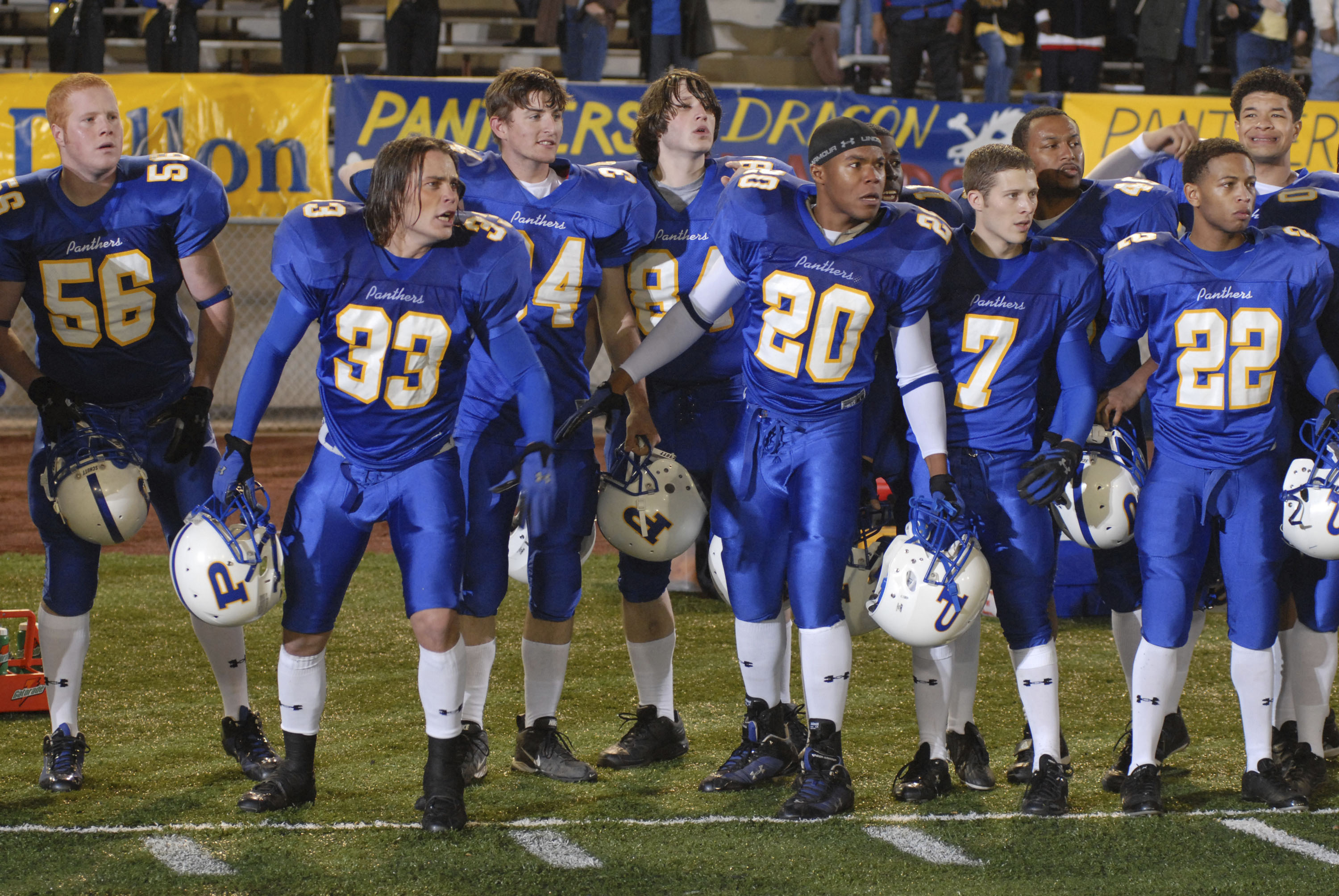 No Merchandising. Editorial Use Only. No Book Cover Usage.Mandatory Credit: Photo by Bill Records/NBC-TV/Kobal/REX/Shutterstock (5883716o) Taylor Kitsch, Gaius Charles, Zach Gilford Friday Night Lights - 2006 NBC-TV USA Television