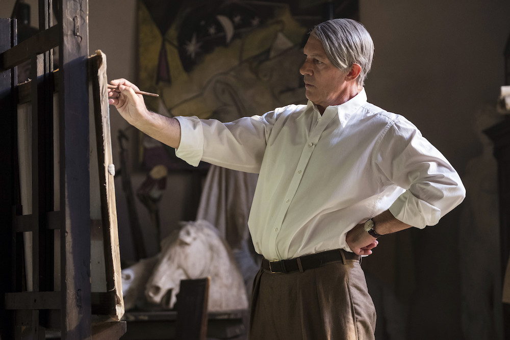 Budapest, Hungary - Antonio Banderas stars as Pablo Picasso in Season 2 of National Geographic's Genius (National Geographic/Dusan Martincek)