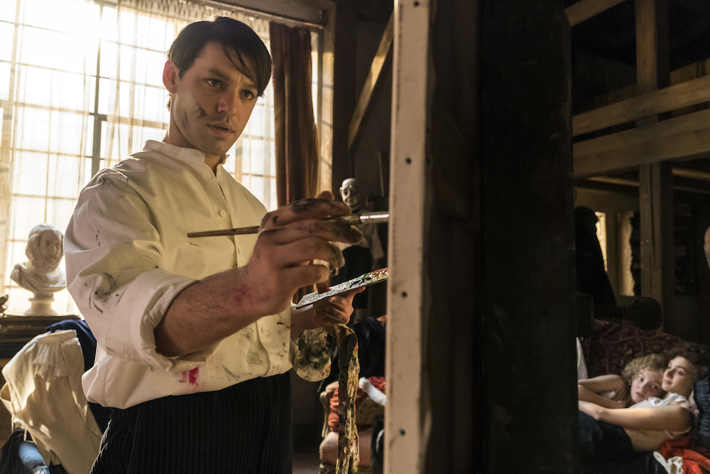Budapest, Hungary - Alex Rich plays Pablo Picasso in Season 2 of National Geographic's Genius (National Geographic/Dusan Martincek)