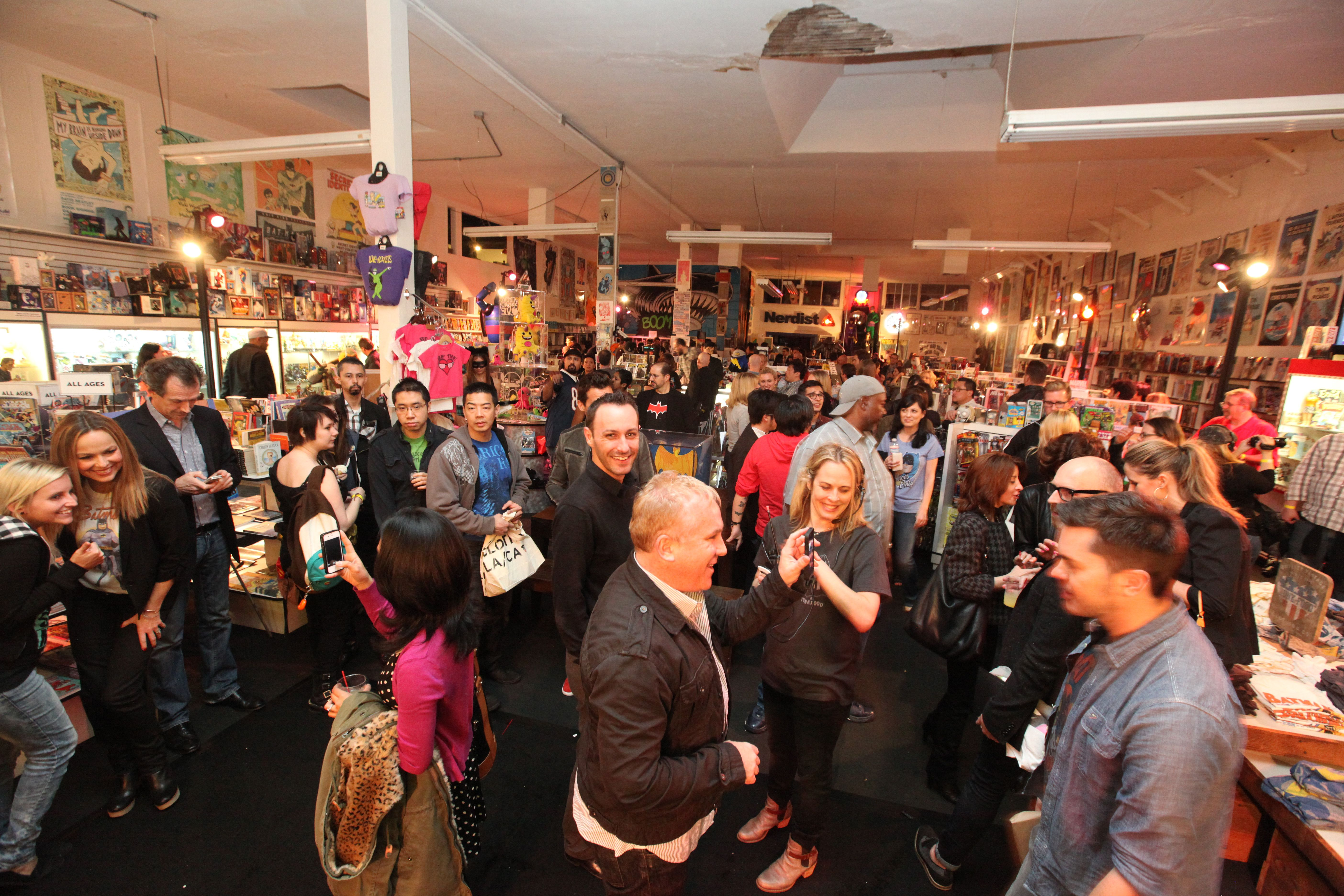 A general view of atmosphere at Warner Bros. Consumer Products and Junk Food Clothing's launch event at Meltdown Comics on in Hollywood, CAWarner Bros. Consumer Products NEW MERCHANDISE LINE BASED ON 1960'S BATMAN CLASSIC TELEVISION SERIES LAUNCH EVENT, Hollywood, USA - 21 Mar 2013
