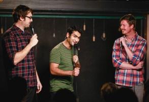 Jonah Ray, Kumail Nanjiani, and Anders HolmTaping of 'The Meltdown with Jonah and Kumail', Los Angeles, America - 12 Feb 2014