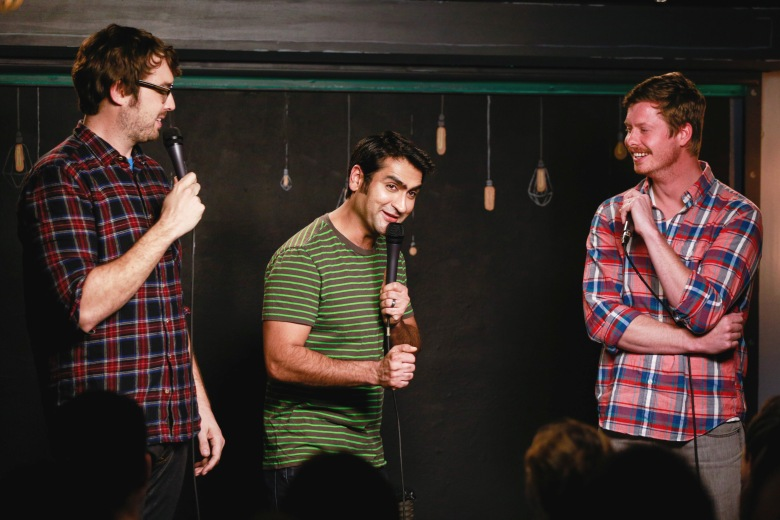 Jonah Ray, Kumail Nanjiani, and Anders HolmTaping of 'The Meltdown with Jonah and Kumail', Los Angeles, America - 12 Feb 2014