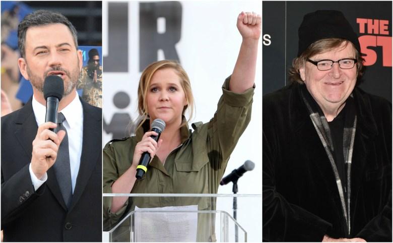 NoRA Initiative Jimmy Kimmel Amy Schumer Michael Moore