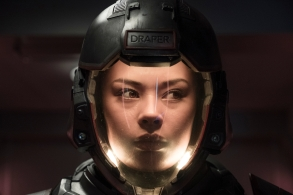"THE EXPANSE -- ""Fight or Flight"" Episode 301 -- Pictured: Frankie Adams as Bobbie Draper -- (Photo by: Rafy/Syfy)"