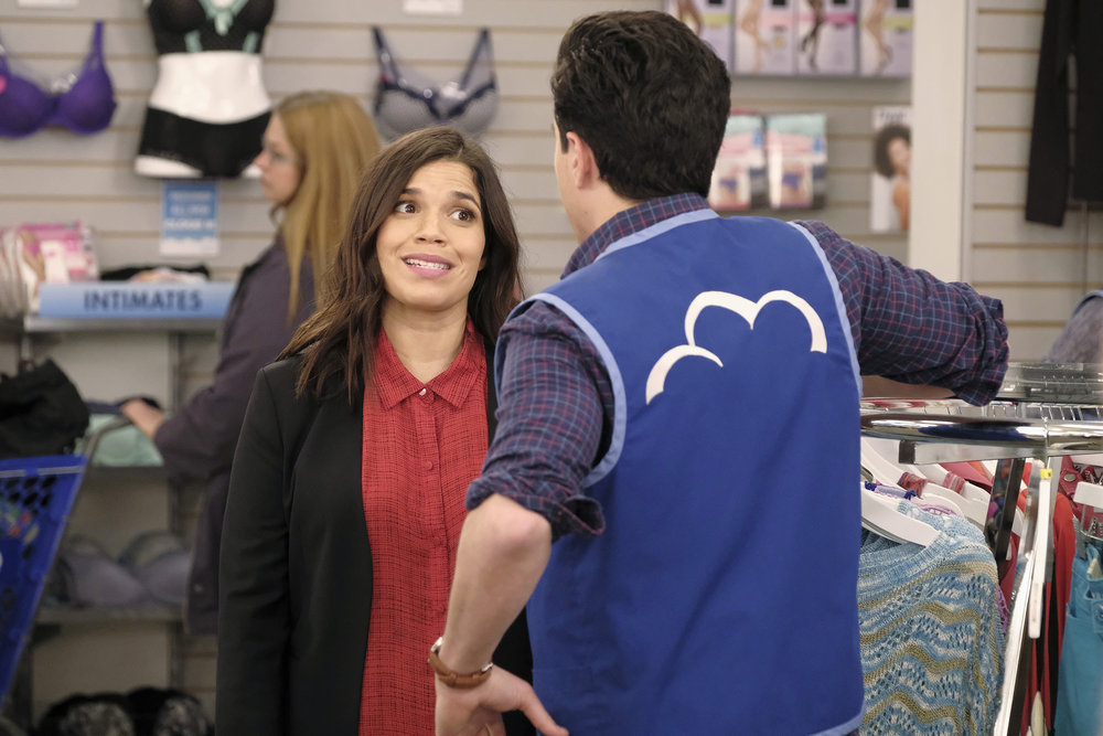 "SUPERSTORE -- ""Lottery"" Episode 319 -- Pictured: America Ferrera as Amy -- (Photo by: Trae PattonNBC)"
