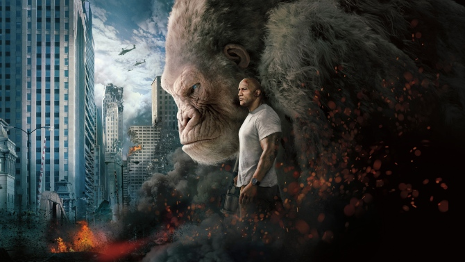 Rampage Review Dwayne Johnson Rocks An Impossibly Bland Monster