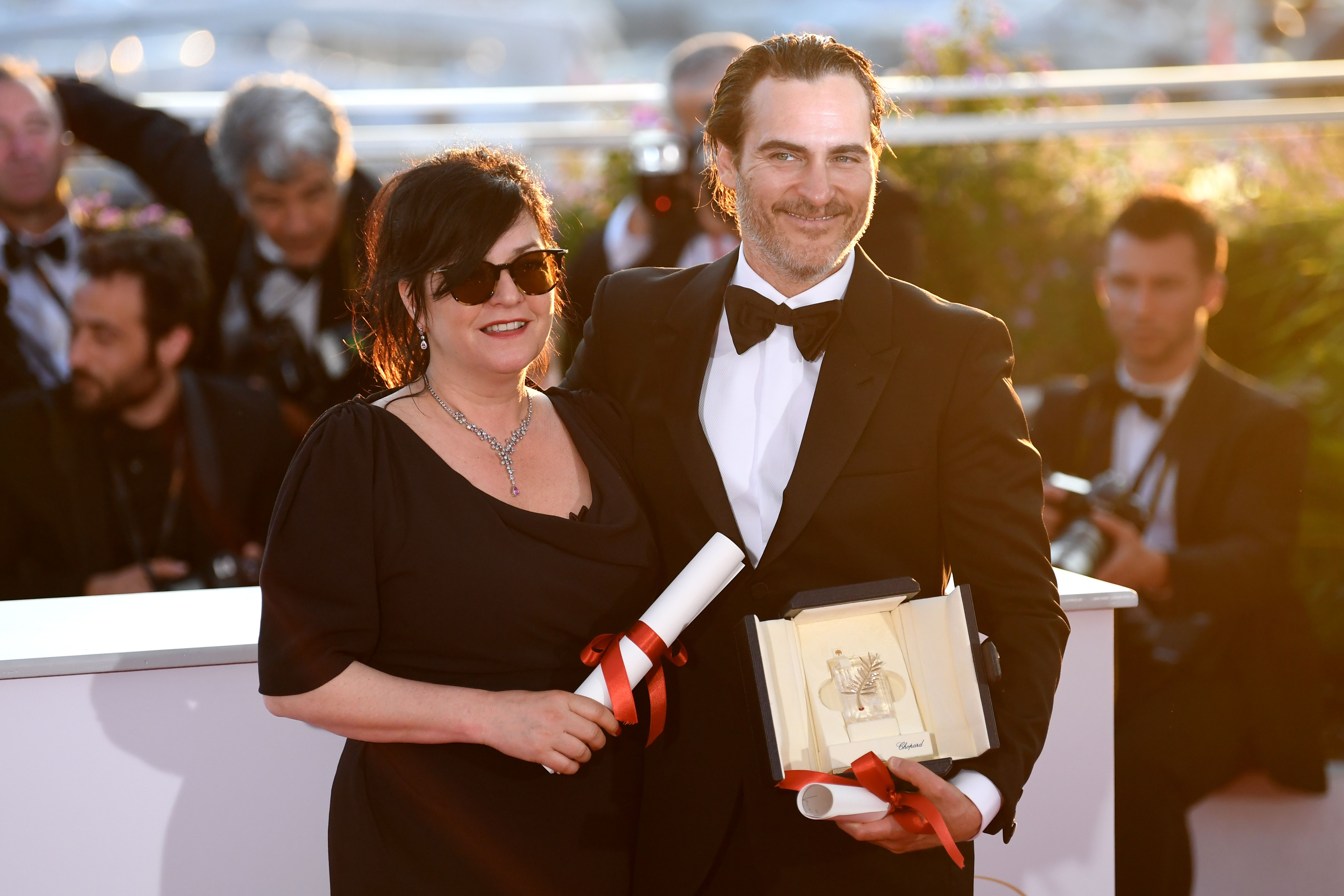 Lynne Ramsay - Best Screenplay - 'You Were Never Realky Here' and Joaquin Phoenix - Best Performance by an Actor - 'You Were Never Really Here'Winners photocall, 70th Cannes Film Festival, France - 28 May 2017