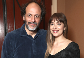 Luca Guadagnino and Dakota Johnson