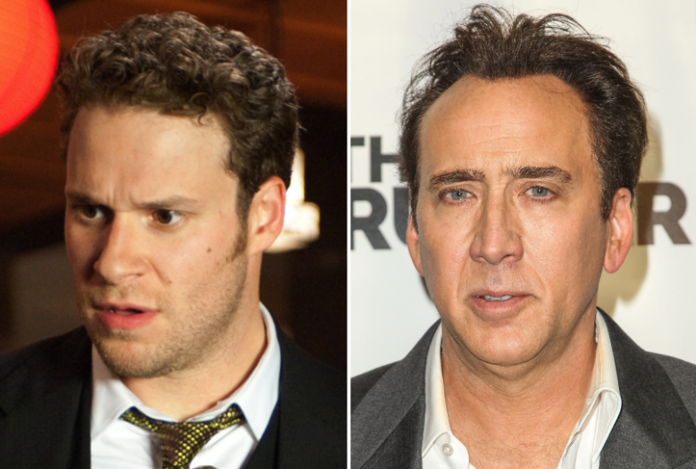 Seth Rogen and Nicolas Cage