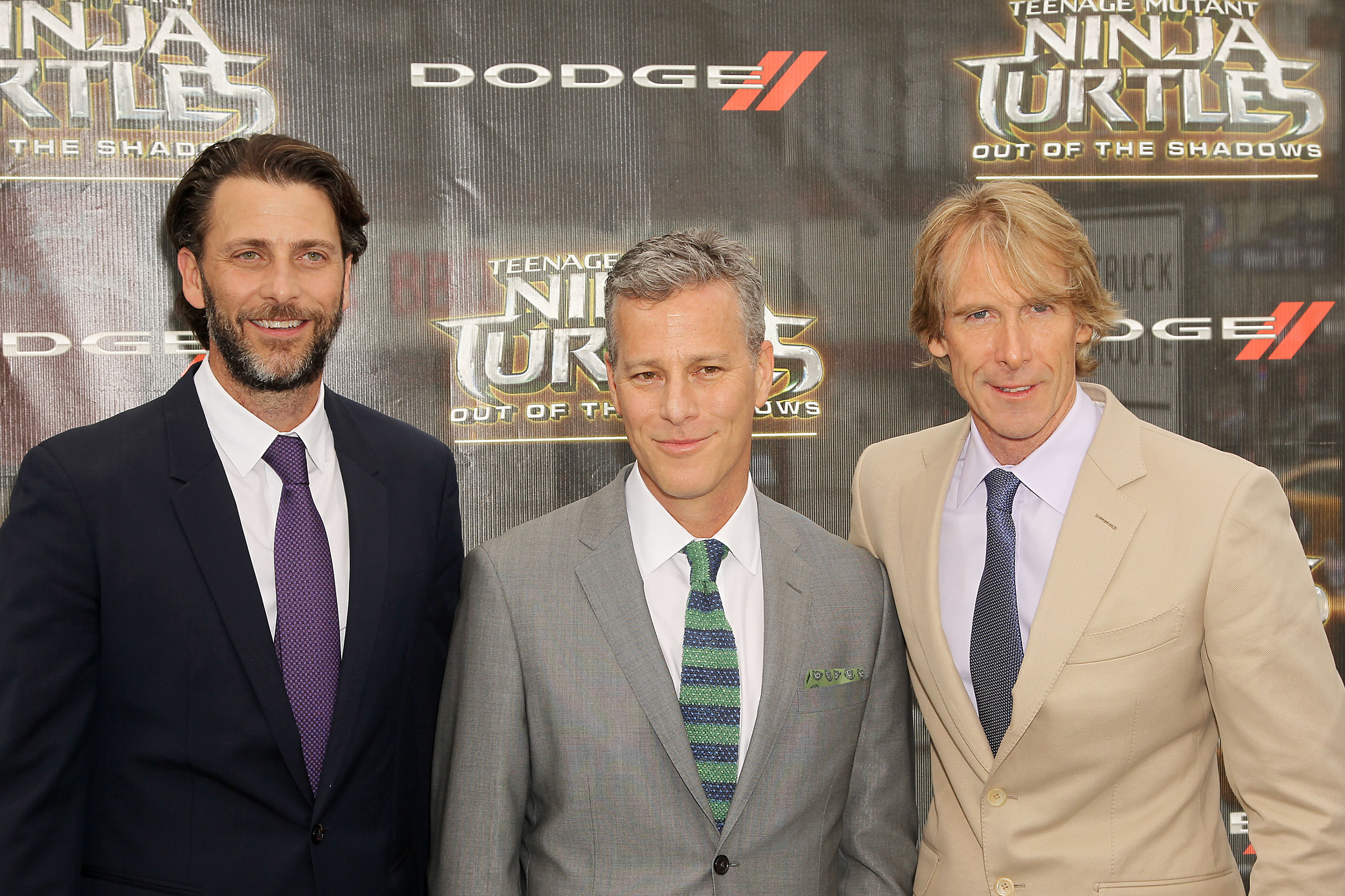 "Andrew Form, Brad Fuller, Michael BayParamount Pictures' & Nickelodeon Movies Present the World Premiere of ""Teenage Mutant Ninja Turtles: Out of the Shadows"" Sponsored by Dodge, New York, America - 22 May 2016"