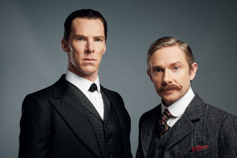 Benedict Cumberbatch and Martin Freeman'Sherlock' TV Programme, UK - 2015EDITORIAL USE ONLY / NO MERCHANDISING / BOOK PUBLISHING TO BE CLEARED BEFORE USE