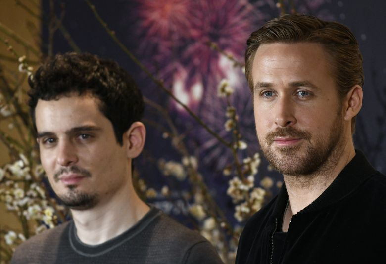 Ryan Gosling and Damien ChazelleLa La Land Movie Promotion Media Conference in Japan, Tokyo - 27 Jan 2017Canadian actor/cast member Ryan Gosling (R) and US film director Damien Chazelle (L) attend a press conference promoting the movie 'La La Land' in Tokyo, Japan, 27 January 2017. 'La La Land' by Damien Chazelle leads the Oscar nominations with 14 nods for, among others, Best Director for Damien Chazelle and Best Actor for Ryan Gosling. The movie will be screened across Japan from 24 February 2017.