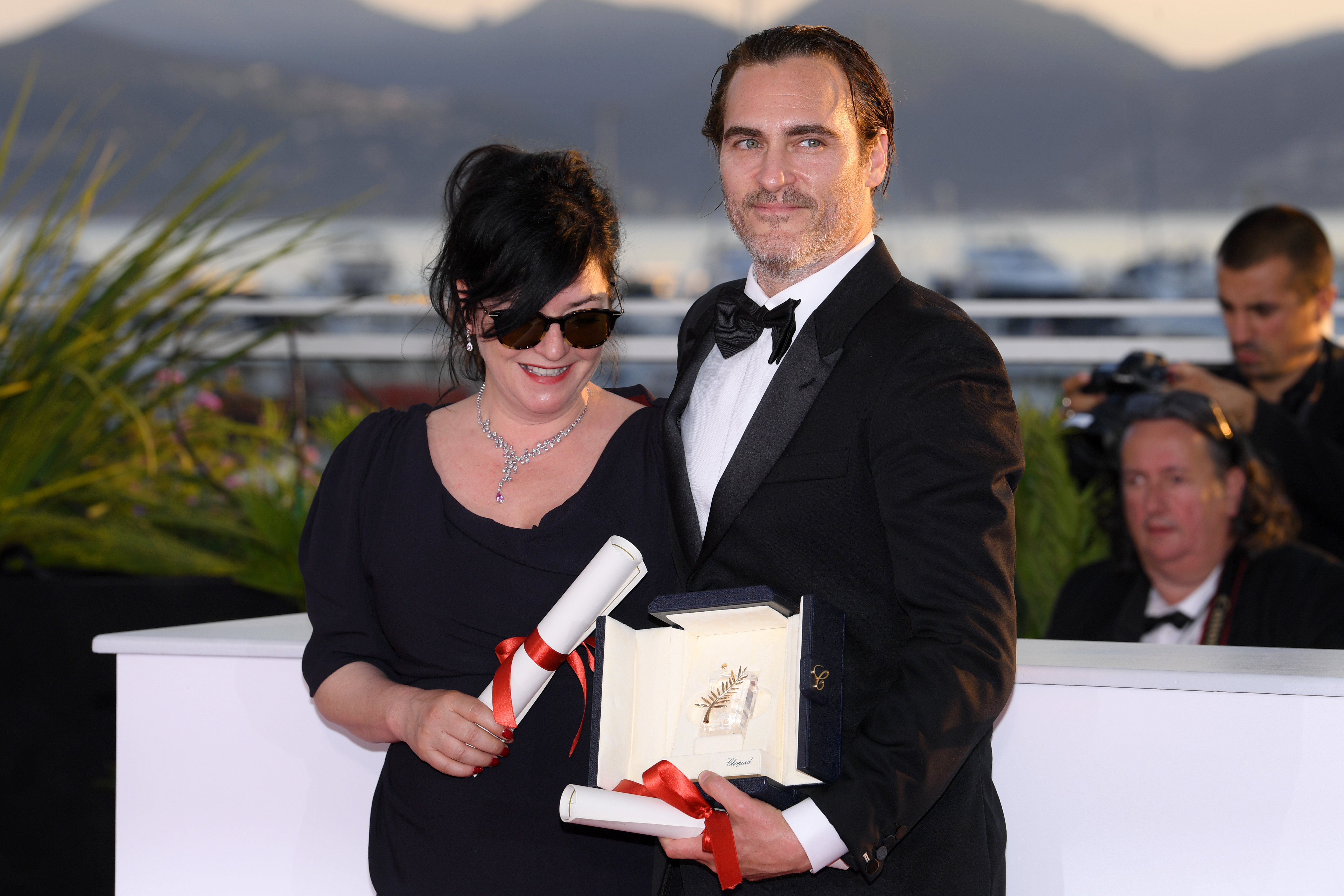 Lynne Ramsay - Best Screenplay - 'You Were Never Really Here' and Joaquin Phoenix - Best Performance by an Actor - 'You Were Never Really Here' Winners photocall, 70th Cannes Film Festival, France - 28 May 2017