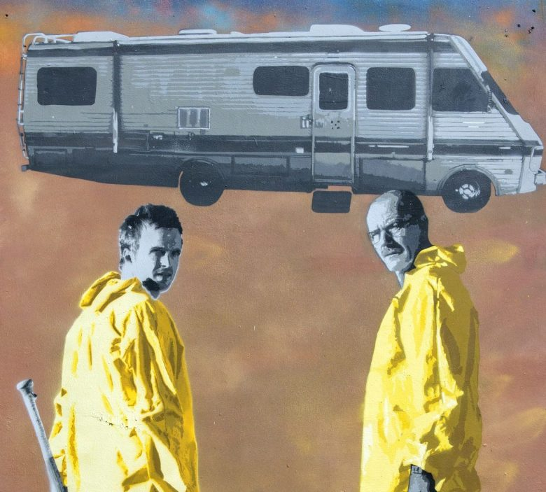 Image of Breaking Bad by artists at Upfest, Europe's largest street art festival held annually in Bedminster, BristolUpfest street art festival, Bristol, UK - 30 Jul 2017The festival officially runs from 29 - 31 July with over 350 artists live painting in 37 locations.