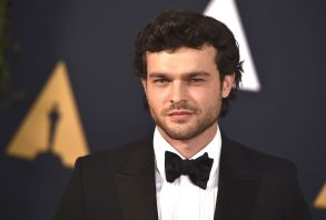 Alden Ehrenreich arrives at the 2016 Governors Awards on in Los Angeles2016 Governors Awards - Arrivals, Los Angeles, USA - 12 Nov 2016