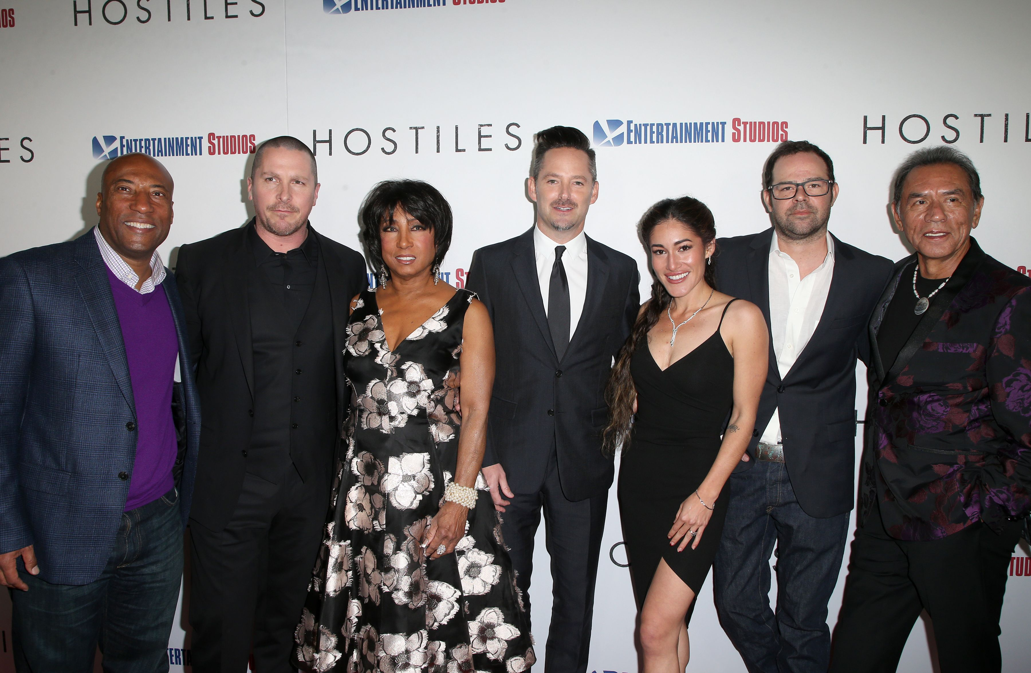 Byron Allen, Christian Bale, Carolyn Folks, Scott Cooper, Q'Orianka Kilvcher, Rory Cochran, Wes Studi'Hostiles' film premiere, Arrivals, Los Angeles, USA - 14 Dec 2017