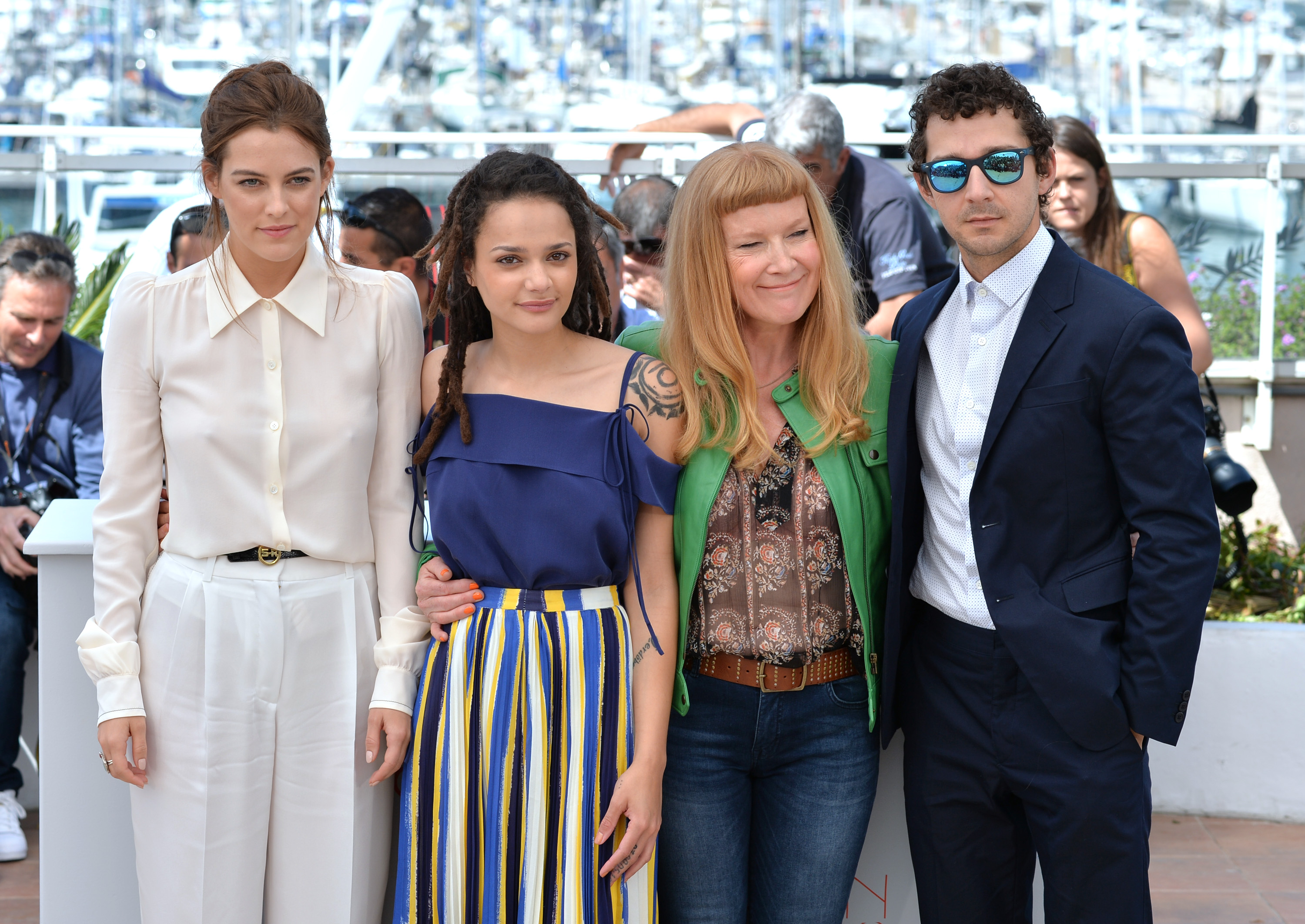 Riley Keough, Sasha Lane, Andrea Arnold, Shia LaBeouf 'American Honey' Photocall - The 69th Annual Cannes Film Festival, Cannes, France - 15 May 2016