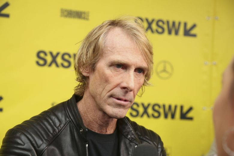 Michael Bay arrives for the world
