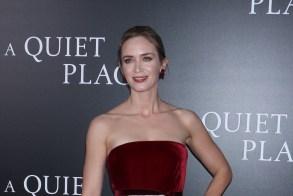 Emily Blunt 'A Quiet Place' film premiere, Arrivals, New York, USA - 02 Apr 2018WEARING OSCAR DE LA RENTA