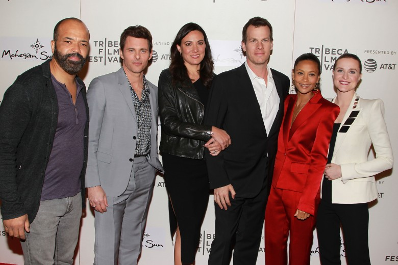Jeffrey Wright, James Marsden, Lisa Joy, Jonathan Nolan, Thandie Newton and Evan Rachel Wood'Westworld' series premiere, Tribeca Film Festival, New York, USA - 19 Apr 2018