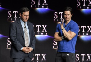 Adam Fogelson and Mark WahlbergAn Evening with STXfilms presentation, CinemaCon, Las Vegas, USA - 24 Apr 2018