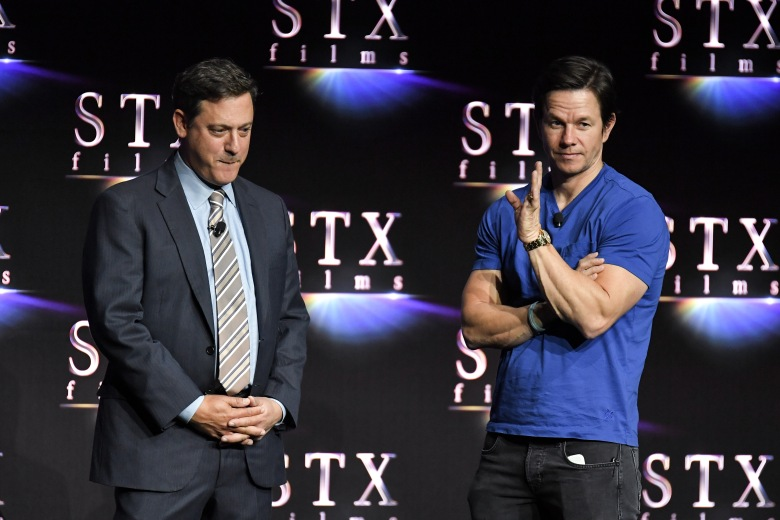 Adam Fogelson and Mark WahlbergAn Evening with STXfilms presentation, CinemaCon, Las Vegas, USA - 24 Apr 2018