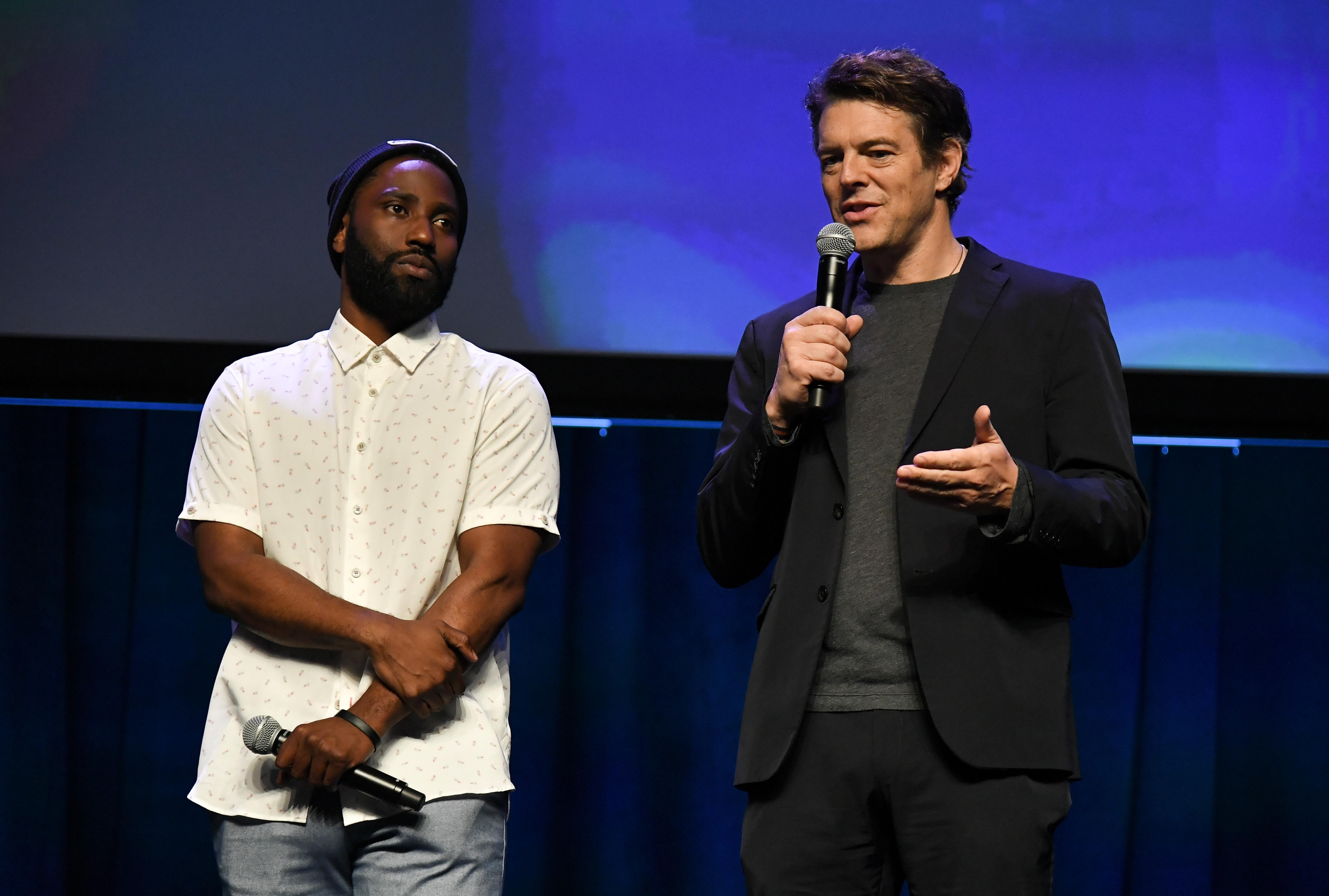 John David Washington and Jason BlumFocus Features presentation, CinemaCon, Las Vegas, USA - 25 Apr 2018
