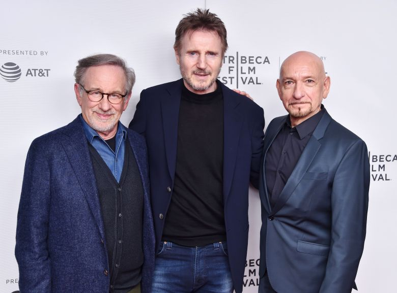 Steven Spielberg, Liam Neeson, Sir Ben Kingsley'Schindler's List' film discussion, Tribeca Film Festival, New York, USA - 26 Apr 2018