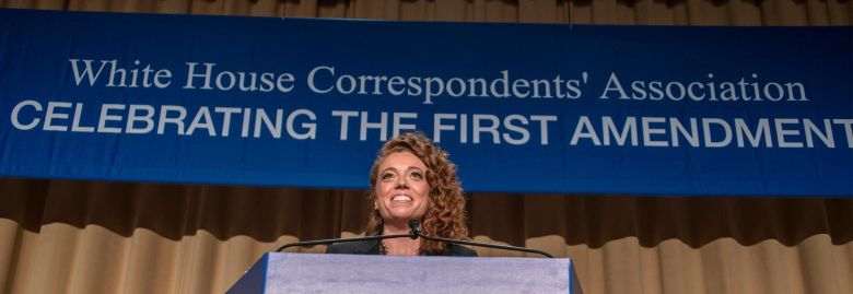 Michelle Wolf provides the entertainment at the 2018 White House Correspondents Association Annual Dinner at the Washington Hilton Hotel.White House Correspondents' Dinner, Inside, Washington DC, USA - 28 Apr 2018