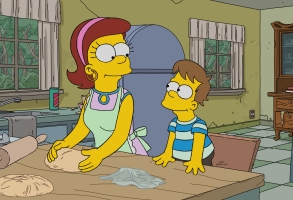 THE SIMPSONS: Grampa makes a confession to Homer while on his deathbed. After his recovery, he comes to realize that this issue will not be easy to reconcile in the ÒForgive and RegretÓ episode of THE SIMPSONS airing Sunday, April 29 (8:00-8:30 PM ET/PT) on FOX. Guest voice Glenn Close (pictured). THE SIMPSONS ª and © 2018 TCFFC ALL RIGHTS RESERVED.