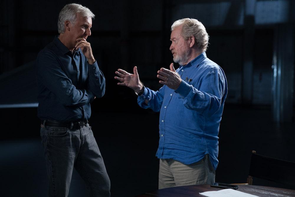 James Cameron, Ridley Scott - Story of Science Fiction _ Season 1, Episode 1 - Photo Credit: Michael Moriatis/AMC