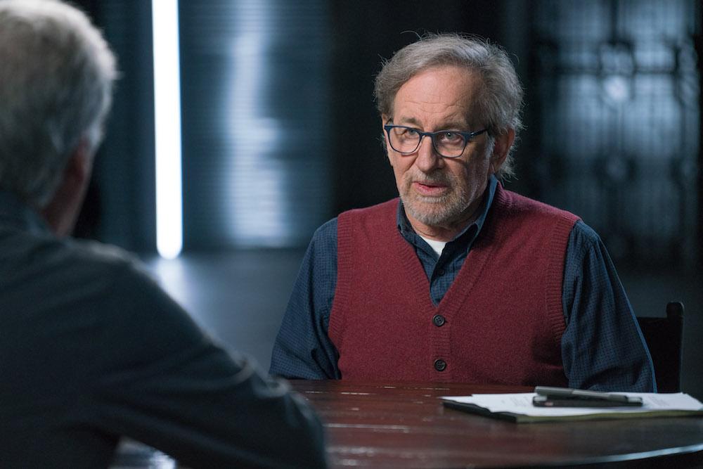 Steven Spielberg, James Cameron - Story of Science Fiction _ Season 1, Episode 1 - Photo Credit: Michael Moriatis/AMC